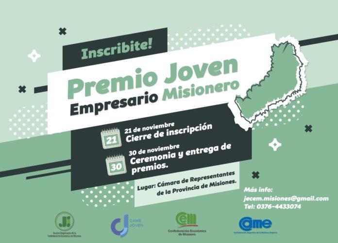 Presentarán el Premio Joven Empresario Misionero