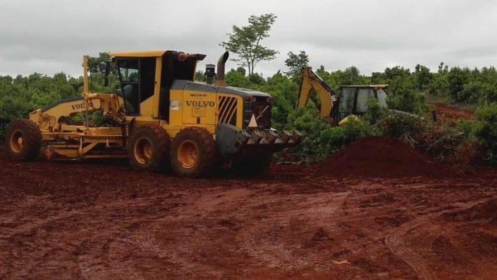 Construyen rotonda en Ruta Provincial N° 4 y acceso a Gobernador López